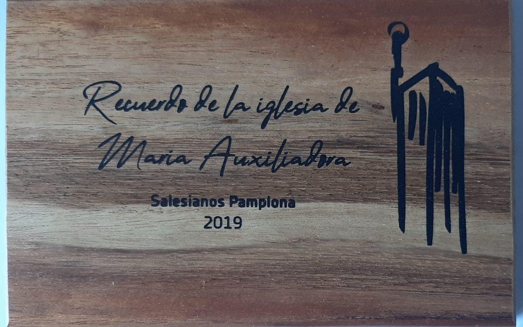 Salesianos Pamplona en calle Aralar: Recuerdo de la Iglesia de María Auxiliadora