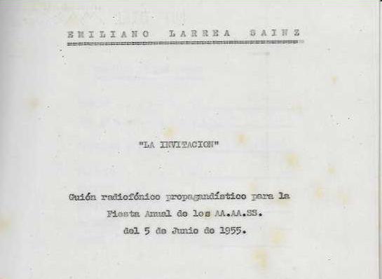 Los guiones radiofónicos de Emiliano Larrea